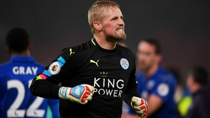 Kasper Schmeichel helped the Foxes to a crucial point
