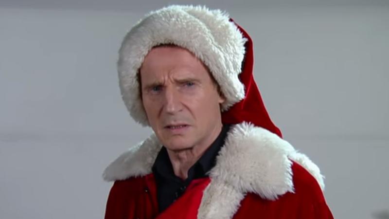 Yule never make it. Liam Neeson fails Santa audition
