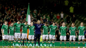 The Republic of Ireland players ahead of last March's friendly with Switzerland