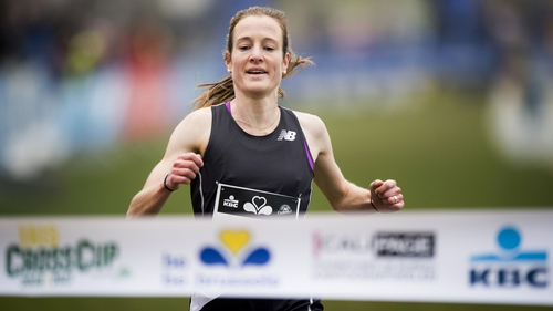 Fionnuala McCormack crosses the finish line first in Brussels