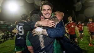 Denis Buckley embraces Quinn Roux