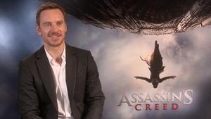 Michael Fassbender happy to let his stunt double do his character's 120ft free fall