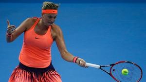 Petra Kvitova is still recovering from a knife attack