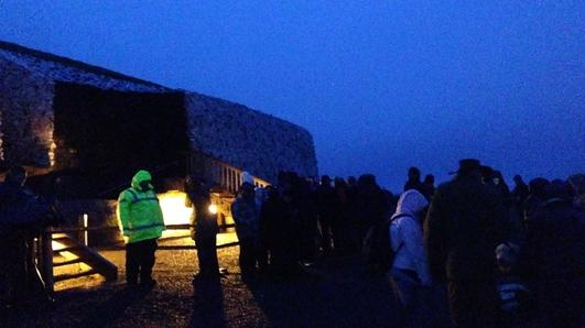 Crowds gather at Newgrange for winter solstice