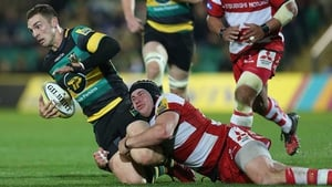 George North (L) passed a head injury assessment during the game against Leicester