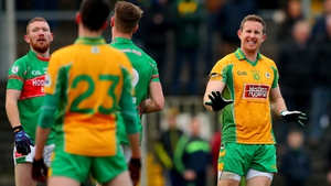 Gary Sice in action for Corofin in the 2016 Connacht final win over St Brigid's