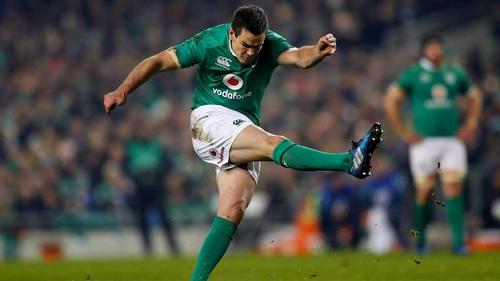 Johnny Sexton suffered a hamstring injury in the Aviva Stadium defeat to New Zealand
