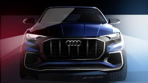 Audi's new Q 8 premium end SUV will be unveiled at the Detroit Motor Show next month