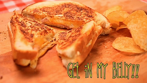 The ultimate ham and cheese toastie.