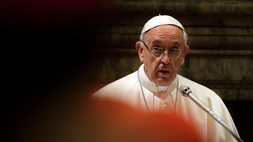The comments were included in a letter Pope Francis sent to bishops over the Christmas period