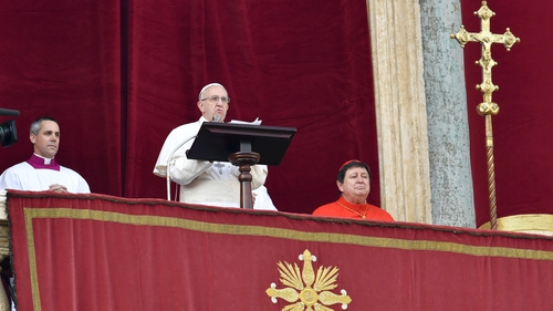 The Pontiff urged peace and reconciliation in his traditional 'Urbi et Orbi' message