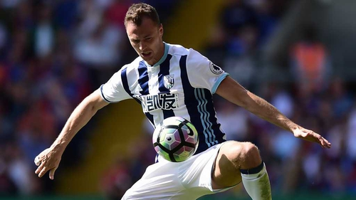 Jonny Evans could bolster West Brom's defence for their trip to Arsenal