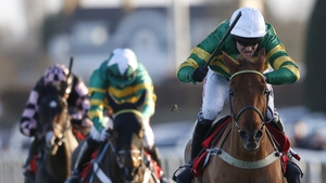 Barry Geraghty rides Yanworth clear to take the Christmas Hurdle in Kempton
