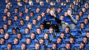Leicester fans don their Jamie Vardy face
