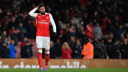 Giroud celebrated his first Premier League start with the winner against West Brom