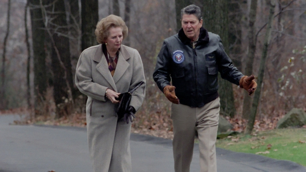 Margaret Thatcher and Ronald Reagan pictured in 1986