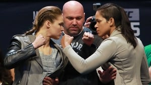 Ronda Rousey and Amanda Nunes clash in Las Vegas in the early hours of Sunday morning
