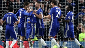 Chelsea are six points clear at the top of the Premier League table