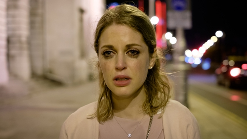 Amy Huberman's character Tara is devastated after learning she was being cheated on