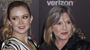 Billie Lourd and her mother Carrie Fisher