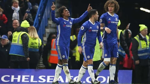 Willian bagged a brace for Chelsea at Stamford Bridge