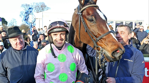 Ruby Walsh and Min in the parade ring following victory