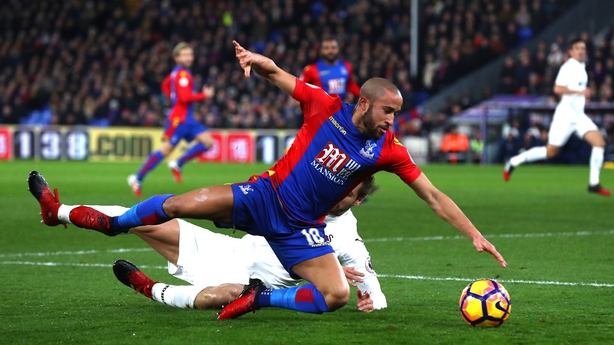 Palace's Andros Townsend goes to ground