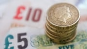 The euro was up over 1% against the pound by 7.30am to be valued at £0.8836