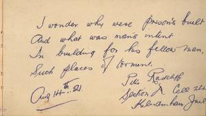 The Kilmainham Gaol Museum autograph book collection contains over 12,000 names
