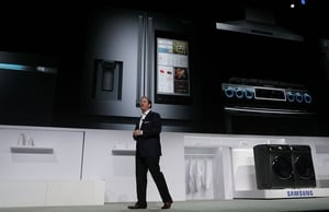 Samsung unveiled new TVs, washer/dryers, laptops and smart fridges during its CES press conference