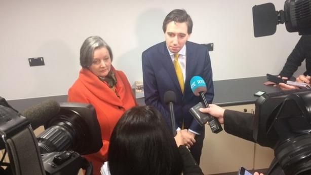 Minister Simon Harris at Midland Regional Hospital, Tullamore