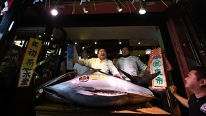 Kiyoshi Kimura, president of Kiyomura, has forked out more than $600,000 for a Pacific bluefin tuna