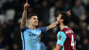 John Stones celebrates the FA Cup win over West Ham