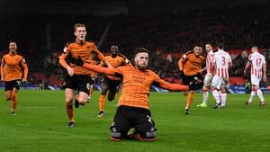 Matt Doherty celebrates his goal