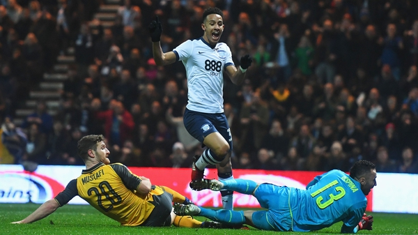 Callum Robinson gave Preston an early lead, but the Gunners hit back