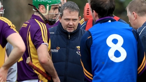 Davy Fitzgerald gears up Wexford's players before his first game in charge against UCD in the Walsh Cup