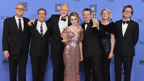 A royal night out - The Crown team including Best Actress winner Claire Foy