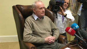 Martin McGuinness speaks to reporters