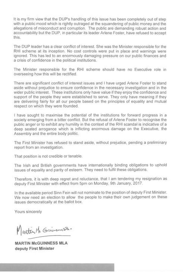 McGuinness letter
