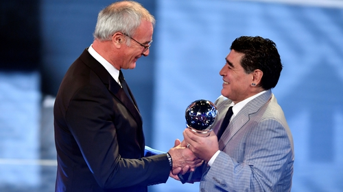 Claudio Ranieri named Best FIFA Men's Coach 2016