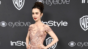 Get the Look: Lily Collins' Golden Globes Gown