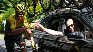 Chris Froome and Team Sky director Dave Brailsford