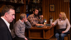 Patrick Ryan (third from left, with co-stars Gary Lydon, Frankie McCaffery and Janet Moran) stars in Conor McPherson's The Weir