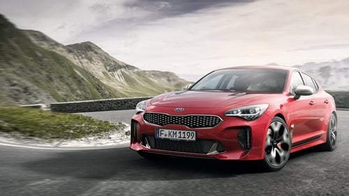The Kia Stinger should be here in October