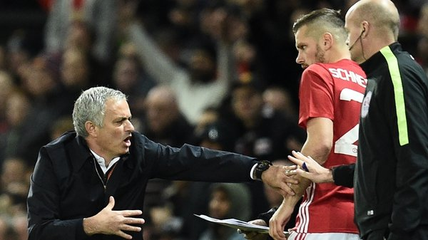 Morgan Schneiderlin gets instructions off Jose Mourinho