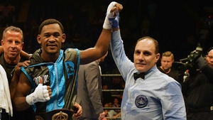 Daniel Jacobs after beating Sergio Mora for the WBA Middleweight Championship last September