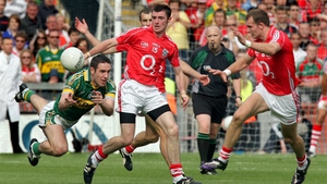 Donncha and Alan O'Connor up against Kerry's Declan O'Sulivan in 2009