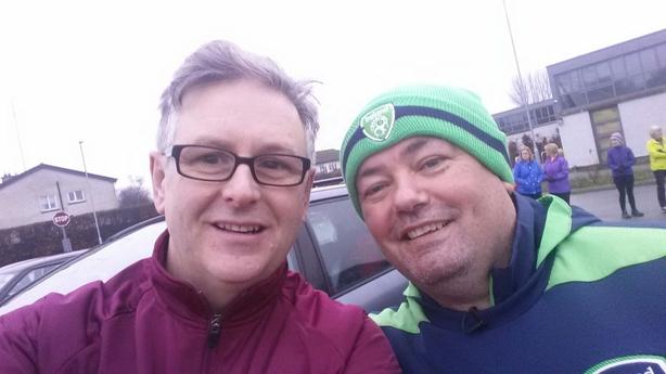 Eddie Murphy and Chris McElligott at a Nationwide Walk in Dunshaughlin 7 Jan