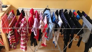 Drying Clothes indoors can contribute to breathing problems