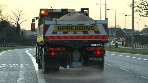 Major roads will be treated and gritted